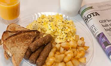 a delicious ordinary breakfast from Pantry Fresh 73 Item Hot Breakfast Buffet