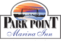 The Park Point Marina Inn logo light version